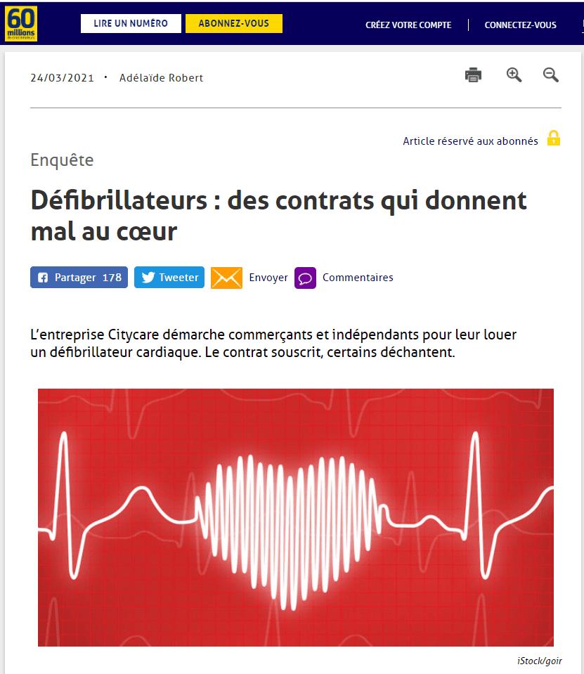 Enquête - Défibrillateurs : des contrats qui donnent mal au cœur