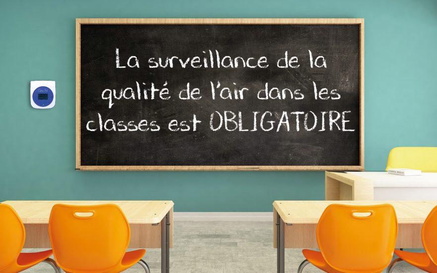 Surveillance qualité air écoles